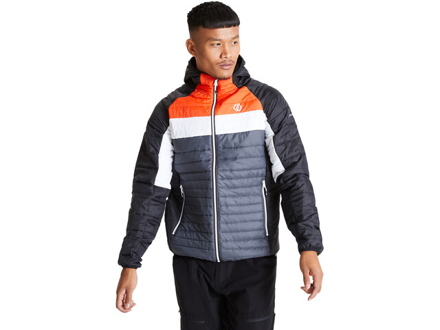 Dare 2b Mountaineer Veste En Laine Homme, ebony grey/black/trail blaze